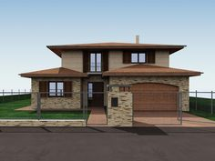 Kovács Péter - Mediterrán jellegű családi ház Sweet Home Design, Dream Home Design, Modern House Design, Indian House Plans, My House Plans, Double Storey House Plans, Modern Bungalow House, Architect House, Exterior Design