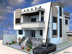 تصميم مفصل فيلا طابقين ابعاد الارض 20*13 - تصميم المهندس Lotfi Abou El Kouroum