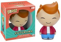 Behold, a man from the far distant past of… the year 2000? This Futurama Fry Dorbz Vinyl Figure features the 20-something year old delivery man. Figure stands approximately 3 inches tall and comes packaged in a double-sided window display box. Ages 14 and up. #funko #DORBZ #vinyl #actionfigure #collectible #Futurama #Fry