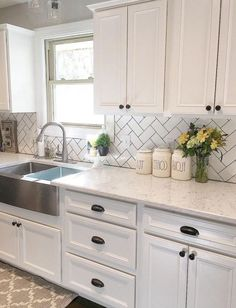 10 Exquisite Tips: Large Kitchen Remodel Products farmhouse kitchen remodel barn doors.Kitchen Remodel Before And After Black Appliances ikea kitchen remodel layout.Kitchen Remodel On A Budget Videos. Kitchen Sink Decor, Farmhouse Kitchen Cabinets, Modern Farmhouse Kitchens, Kitchen Redo, Home Kitchens, Farmhouse Decor, Farmhouse Ideas, Long Kitchen, Small Kitchens