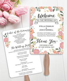 Fan programs for weddings diy sweepstakes