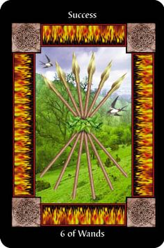 The Six of Wands is a good news card and indicates that, after a lot of hard work and difficulties, you are now beginning to achieve the success you dreamed of - one that is recognized by other people.