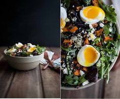 Sweet Potato and Quinoa Salad with Soft-Boiled Eggs | 32 Ways To Eat Quinoa And Succeed In Life