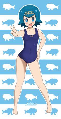 Pokemon Sun and moon - Lana swimsuit by Kunaless.deviantart.com on @DeviantArt
