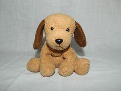 "Russ Luv Pets BUDDY Brown Puppy Dog Chamois Feel 5"" Plush Stuffed Bean Bag 3035 #Russ"