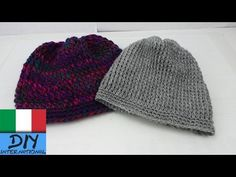 Berretto lungo ad Uncinetto - Beanie Crochet guida per principianti - YouTube