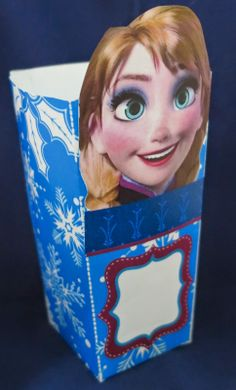 Frozen: Cajas para Popcorn para Imprimir Gratis.