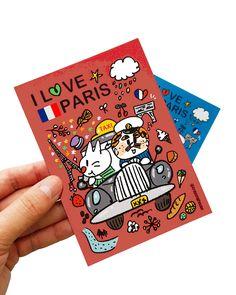#illust #illustrator #zeo #crayonghouse #paris #taxi #일러스트 #택시 #파리 #그림 #그림엽서