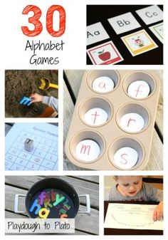 More than 30 Awesome Alphabet Games for Toddlers and Preschoolers. {Playdough to Plato}