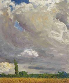 alongtimealone:  Kees van Dongen - Wheat Field with Poppies