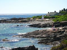 The Marginal Way, Ogunquit, Maine  - on the shoreline in front of that lighthouse is where we got engaged