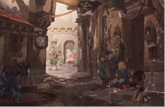 Image result for concept art town