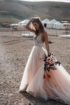 Galiah Lahav Bridal Shoot at Scarabeo Camp in Marrakech Perfect Wedding Dress, Dream Wedding Dresses, Bridal Dresses, Beaded Wedding Dresses, Bridesmaid Dresses, Maxi Dresses, Flowing Wedding Dresses, 2 In 1 Wedding Dress, Fall Wedding Gowns
