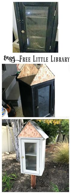 Our Free Little Library - Nesting With Grace Little Free Library Plans, Little Free Libraries, Little Library, Little Free Pantry, Library Inspiration, Library Ideas, Library Cabinet, Lending Library, Bookcase Styling