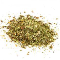 Salatkräuter ohne Knoblauch | 30g einer aromatischen Mischung für Salate, Kräuterquark und grüne Saucen - ohne Knoblauch. Zutaten: Paprika, Pfeffer, SESAM, Oregano, Rohrzucker (10%), Meersalz (6,4%), Petersilie, Schnittlauch, Tomaten, Dill.