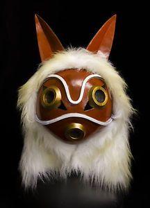 Princesse-mononoke-masque-avec-fausse-fourrure-capuche