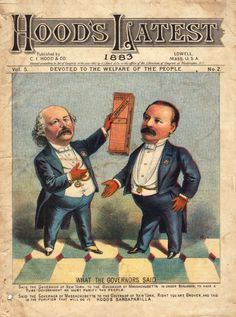 Politics and Elections - Quack Medicine Style! Political Satire, Political Cartoons, American Presidents, American History, Grover Cleveland, Vintage Calendar, Vintage Scrapbook, Vintage Ephemera, Teaching Tools
