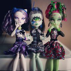 Monster High Repaint, Monster High Dolls, Flower Makeup, Monster High Custom, Custom Checks, Doll Repaint, Doll Stuff, Custom Dolls, Ball Jointed Dolls