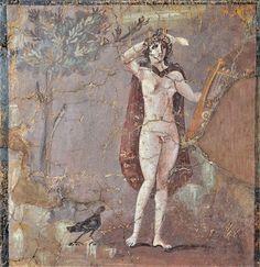 Ερμαφρόδιτος Τοιχογραφία από Κάπουα στην Καζέρτα της νότιας Ιταλίας (250-300 μ.Χ) Μουσείο Μπαράκο στη Ρώμη