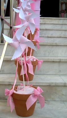 Διακόσμηση εκκλησίας βάπτισης - Victoria Wed Stories Diy Party Decorations, Diy Decoration, Rose, First Birthdays, Baby Shower, Ideas, Card Stock, Bags, First Anniversary