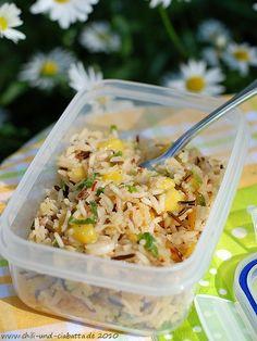 Reis-Salat mit Mango