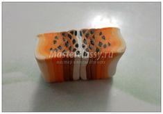 Lily cane Браслет из запекаемой полимерной глины. Лилии