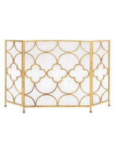 Fireplace Screen from Park Avenue Penthouse: Furniture & Accents on Gilt