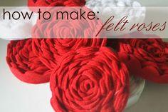 How to Make Felt Roses (free tutorial)