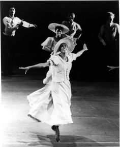 "Award winning Dancer and Choreographer Judith Jamison performing in Alvin Ailey's ""Revelations"", ca. 1970s. She currently serves as the Artistic Directir of the Alvin Ailey American Dance Theater and has won many major awards including the New York Governor's Arts Award, an Emmy, National Arts Medal, The Handel Medallion, and honors from BET and the National Theater of Ghana. She was also listed as one of TIME magazine's 100 influential people."