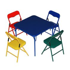 Found it at Wayfair - Children's 5 Piece Square Table and Chair Set