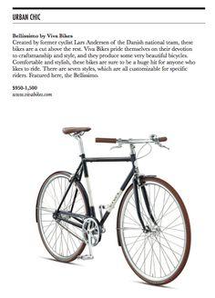 Urban Chic / Bellissimo by Viva Bikes / Beverly Hills Lifestyle Magazine / Fall 2013
