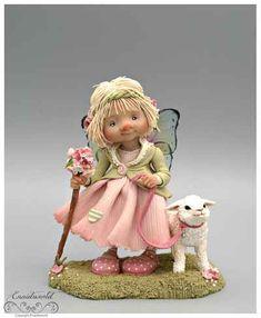 fairy puppets / fotogalerij | enaidsworld Polymer Clay Fairy, Polymer Clay Dolls, Polymer Clay Crafts, Elves And Fairies, Clay Fairies, Baby Fairy, Clay Figurine, Fairy Dust, Fairy Dolls