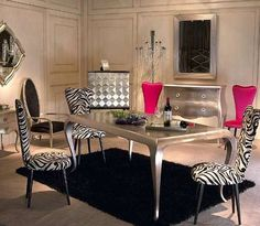 Eclectic Design Ideas | ... silver and crystal decor for dining room decorating in eclectic style