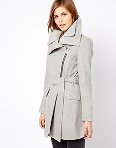 Warehouse - Rib Collar Biker Coat