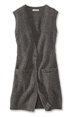 0ba425ada5744d Women s Long V-Neck Sweater Vest   Donegal Long Sweater Vest