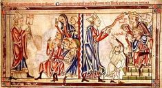 Thomas Becket and Henry II of England Arguing.