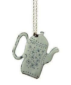 enamel.jeweller   Wee finds: Teapot and teacup enamel jewellery   Wee Birdy