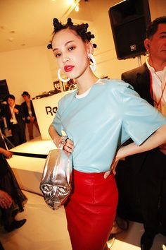 Kiko Mizuhara at Reebok CLASSIC presents Keith Haring Exhibition Reception Party!