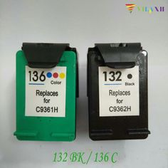 Big sale US $15.80  For HP 132 136 Ink Cartridge For HP132 136 Photosmart 2573 C3183 D5163 Officejet 6213 5443 D4163 PSC 1513 1513s  #Cartridge #Photosmart #Officejet  #OnlineShop