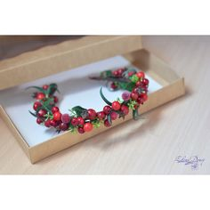 Bridal crown Rustic bridal set Flower berries crown Boutonniere... (€59) ❤ liked on Polyvore featuring home, home decor, rustic home accessories, autumn home decor, rustic wreath, head wreath and cranberry wreath