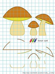 paddestoelen rekenen en tekenen Crafts To Make, Crafts For Kids, Blackwork, Pixel Art, Gross Motor Activities, Autumn Nature, Pre Writing, Collaborative Art, Nature Crafts