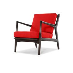 Thrive Eisenhower Chair ($899) ❤ liked on Polyvore featuring home, furniture, chairs, handmade furniture, stripe chair, striped chair, handcrafted furniture and polish furniture