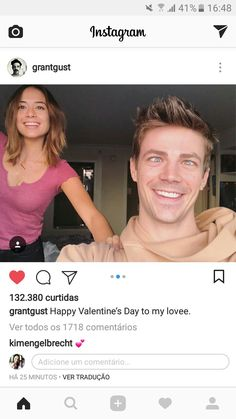 I love Grant and her crazy faces! 💗She is so lucky, they are an amazing couple💗♥️💗 The Cw Shows, Dc Tv Shows, O Flash, Flash Arrow, Andrea Thomas, Crazy Faces, Flash Funny, Flash Wallpaper, Flash Barry Allen