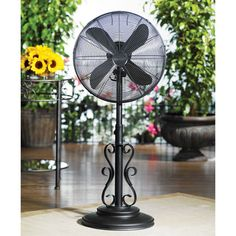 Deco Breeze Ebony Adjustable Outdoor Pedestal Fan - available at Ultimate Patio. Banish the heat outdoors with this. Outdoor Standing Fans, Outdoor Fans, Outdoor Ideas, Pergola Ideas, Patio Ideas, Outdoor Spaces, Pool Ideas, Backyard Ideas, Outdoor Decor
