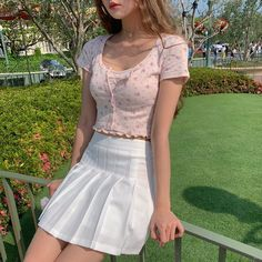 Mode Outfits, Girly Outfits, Cute Casual Outfits, Pretty Outfits, Pink Skirt Outfits, Kawaii Fashion, Cute Fashion, Girl Fashion, Fashion Outfits