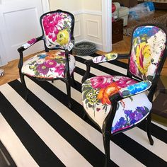Customizable French Chairs: Ready for Your Special Fabric Eclectic Dining Chairs, French Dining Chairs, Dining Chair Set, Dining Room Chairs, Office Chairs, Funky Furniture, Furniture Makeover, Painted Furniture, Diy Home Decor