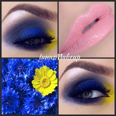 blue and yellow fleur