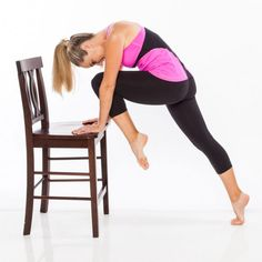 Grab a chair and work your belly, buns, and thighs with this at-home barre exercise. You in?