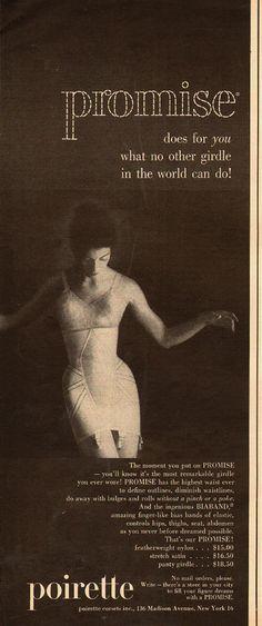 1949 vintage lingerie ad, PROMISE GIRDLE by Poirette -081313