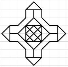 Blackwork Patterns, Blackwork Embroidery, Embroidery Patterns, Barn Quilt Designs, Barn Quilt Patterns, Peyote Stitch Patterns, Bracelet Patterns, Cross Stitch Kits, Cross Stitches